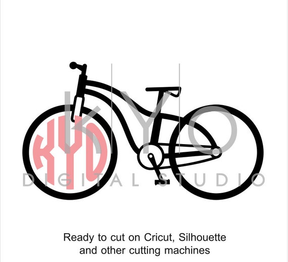 Bicycle SVG file, Bike svg, Circle Monogram svg, Cycling svg, Vintage bike svg, cuttable svg files for Cricut and Silhouette Cameo #svg