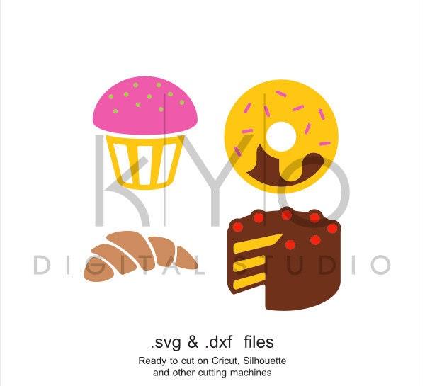 Cakes SVG Cutting File Croissant SVG Birthday Cake Svg