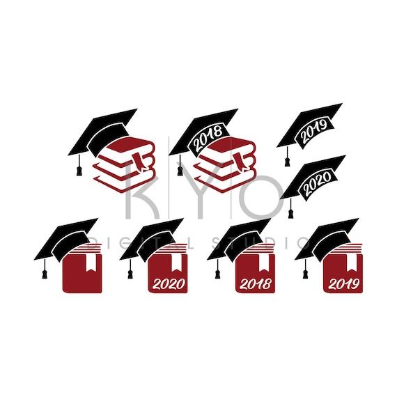 Graduation svg files for Cricut Silhouette, Mortarboard SVG PNG files, Graduation 2018 2019 2020 svg files, Graduation cap hat svg