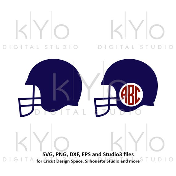 Football svg Football Helmet SVG files Football monogram frame svg Football life svg png dxf studio3 files for Cricut Explore Silhouette
