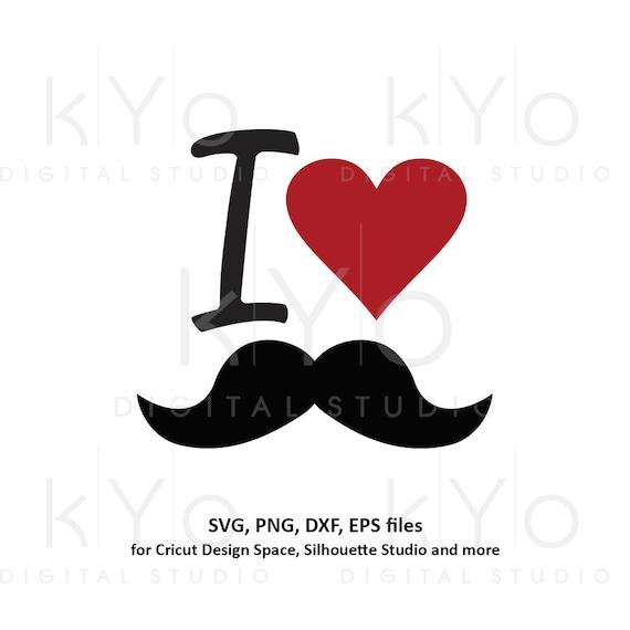 Fathers day svg, I love moustache svg, mens t shirt design svg, Dad shirt svg files for Cricut Silhouette png dxf files no 1 dad svg