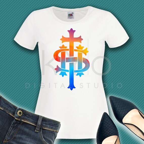 Religious Christian Printable Ihs Monogram Png File Jesus Etsy