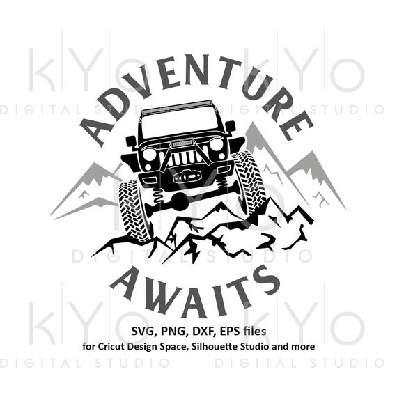 Jeep Wrangler svg Adventure Awaits svg Explore Offroad 4x4 svg Distressed Jeep Adventure shirt svg files for Cricut Silhouette cut files