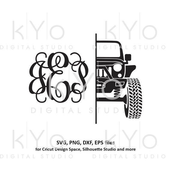 Jeep split monogram svg, Off road 4x4 jeep svg, Jeep girl shirt design svg files for Cricut Silhouette dxf files, Jeep silhouette svg