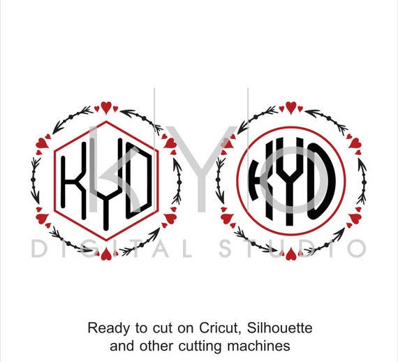 Valentine SVG cut files, Love Heart SVG, SVG, Arrow Monogram svg, Arrow svg, Arrow Heart, Valentines day svg files for Cricut and Silhouette