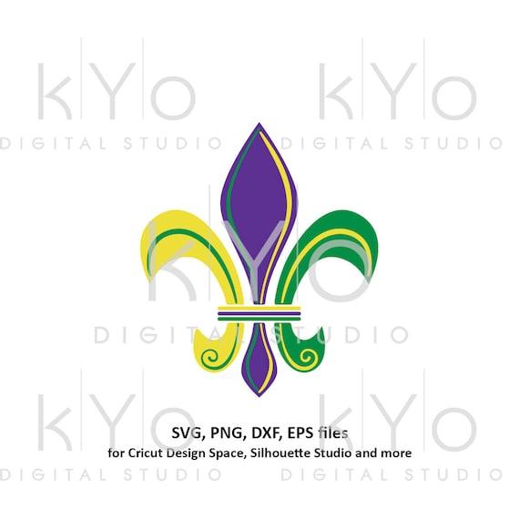 Mardi Gras svg Fleur de lis svg Carnival svg Lily svg, clipart png files, svg files for Cricut Commercial use svg Silhouette Cameo files
