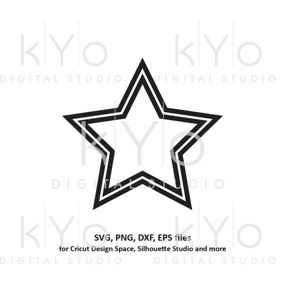 Star shape double outline svg file Basic shape svg files for Cricut and Silhouette cut files Cameo files Instant download commercial use svg
