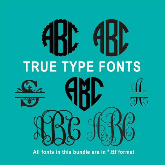 True Type Monogram Font Bundle in TTF format