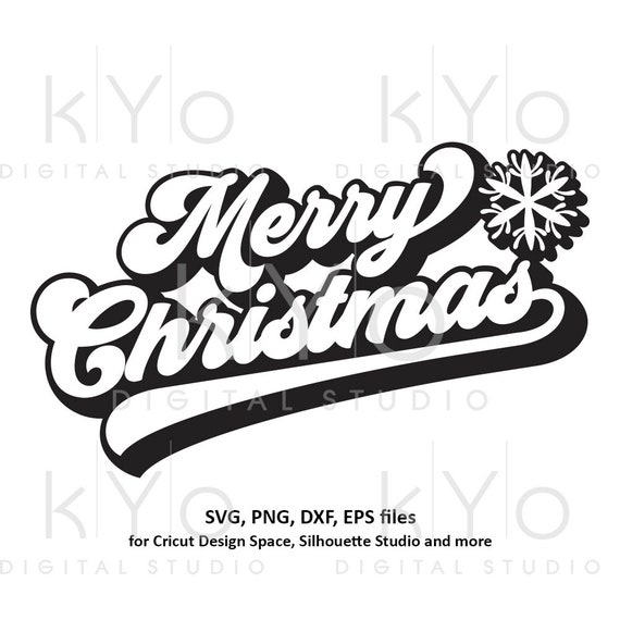 Merry Christmas banner svg Snowflake svg Christmas party svg Merry Christmas card svg files for Cricut and Silhouette dxf files