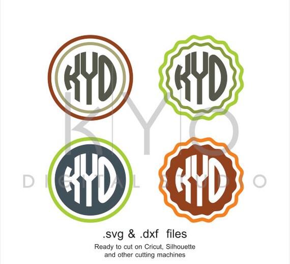 Circle Monogram frames SVG cutting file, Basic circle monogram svg files, svg files for Cricut and Silhouette Cameo files, digital download