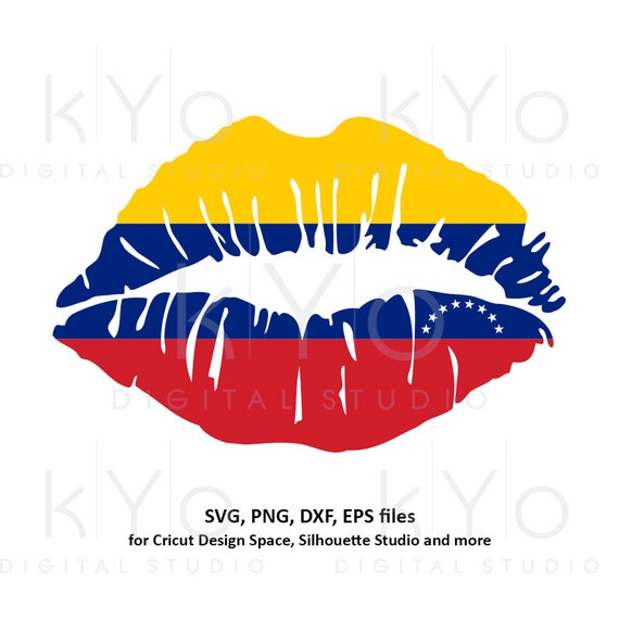 Venezuela flag Girl Lips svg Venezuelan flag lips svg South America svg files for Cricut Silhouette png Clipart Vector dxf Cutting file