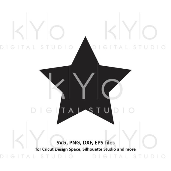 Star shape svg files Basic shapes svg files for Cricut and Silhouette cutting files Cameo files Instant download commercial use svg
