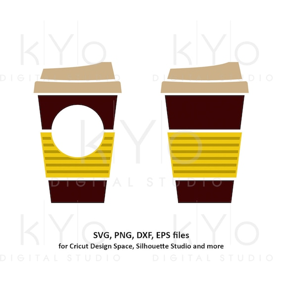 Coffee cup svg Travel mug take out cup Stripes coffee mug Paper cup svg Coffee monogram svg dxf png clipart files for Cricut Silhouette