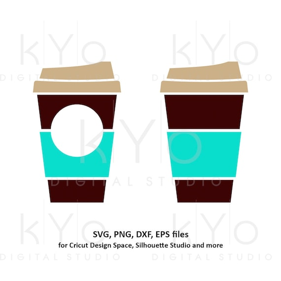 Coffee cup svg Travel mug take out cup Plain coffee mug Paper cup svg Coffee monogram svg dxf png clipart files for Cricut Silhouette