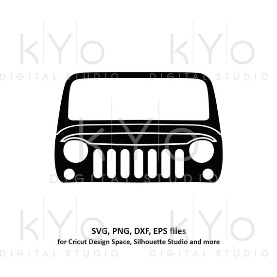 Jeep Wrangler front grill svg jeep silhouette svg Jeep shirt design Off road 4x4 svg files for Cricut Silhouette cut files