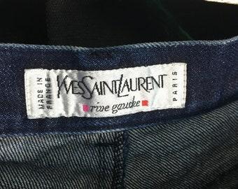 d50ff44aa71 Yves Saint Laurent Straight Leg Dark Denim Jeans