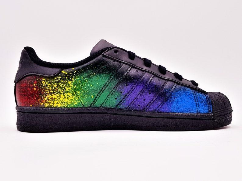 usine authentique ec4d6 ec1cd Adidas Superstar Splash Custom Color