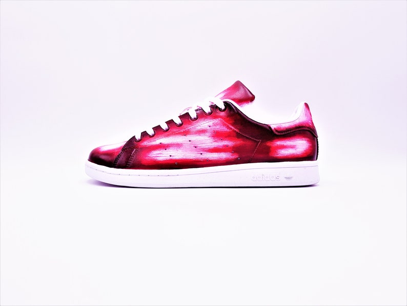 nouveau concept 4ccf0 cb035 Adidas Stan Smith Patine Rouge - Custom Patine Sneakers