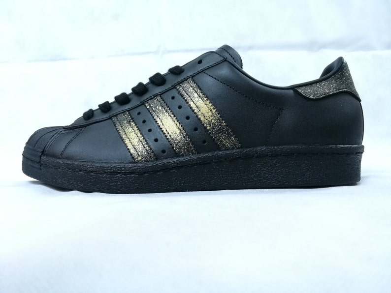 0073b67a836 Adidas Superstar 24K Winter Edition Custom | Etsy