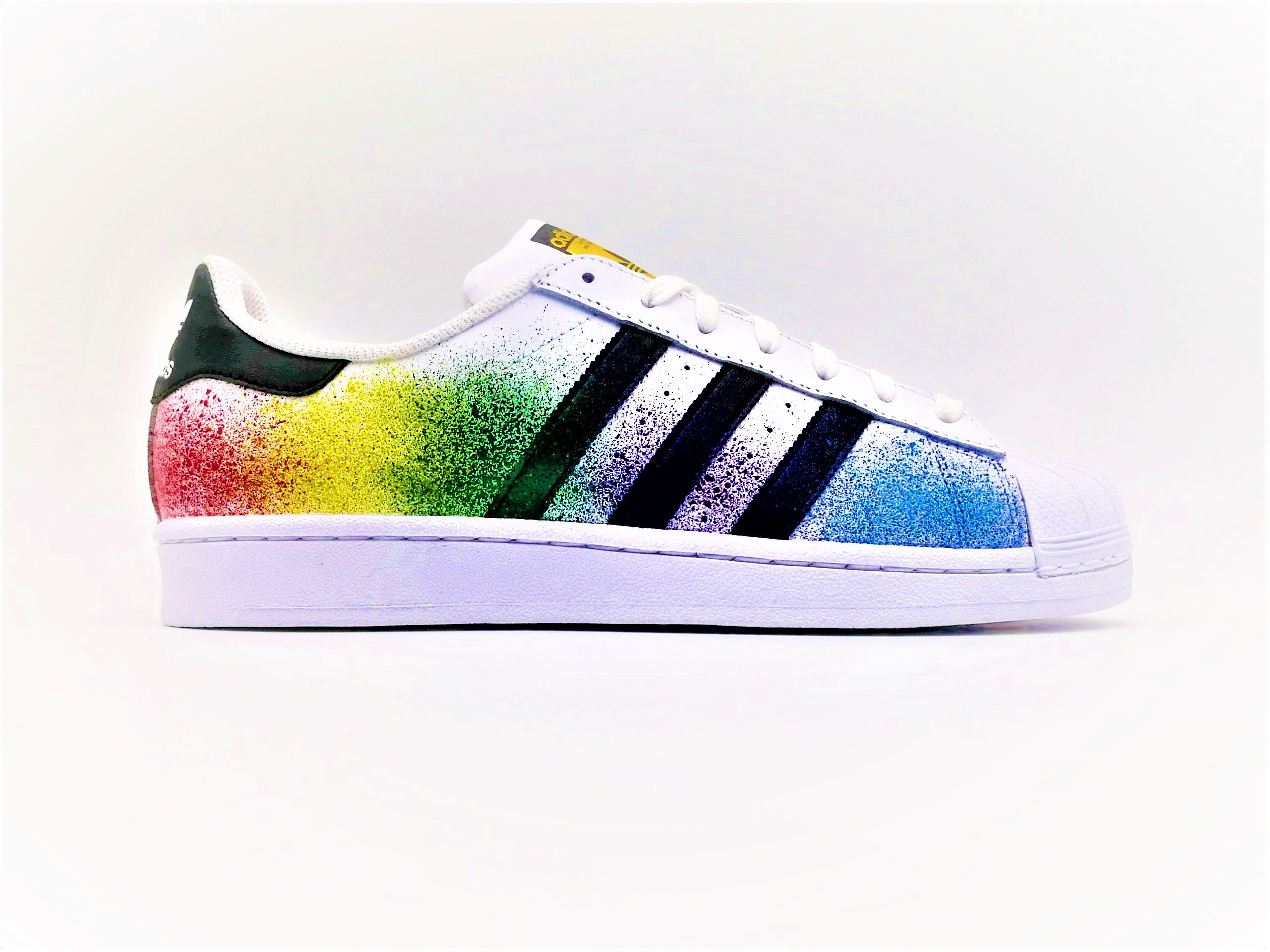 buy online 34251 8ee9b Adidas Superstar Splash Custom Color   Etsy