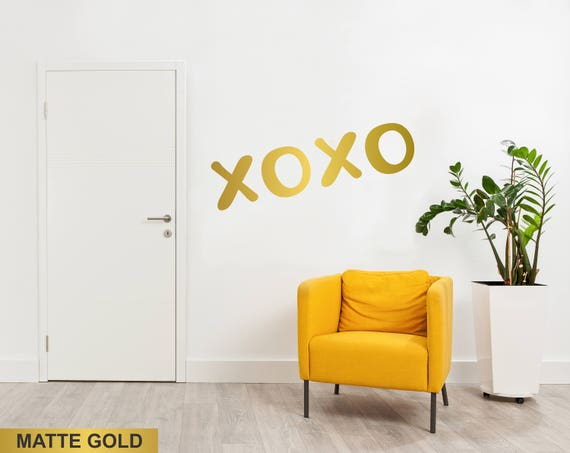 Xoxo Letters Pop Art Wall Decal For Bedroom Living Room Office Walls Fancy Wall Decoration Decal Idea For Girls Teens Kiss Decal