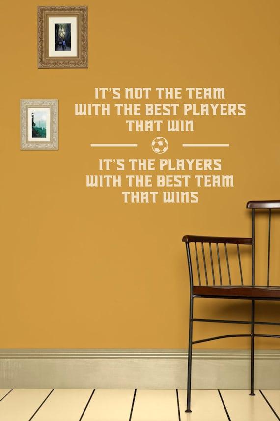 Fußball Fußball Zitate Wandtattoo Inspirierende Zitat Vinyl Aufkleber über Teamwork Sportlichkeit Sport Wand Aufkleber Für Jungen Fitness Studio