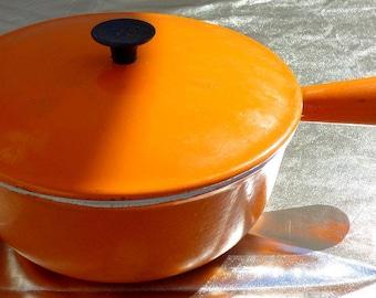 COUSANCES No. 20 Orange 70's cast iron pan