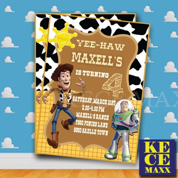 Invitan Invitacion Del Cumpleanos De Woody Toy Story Etsy