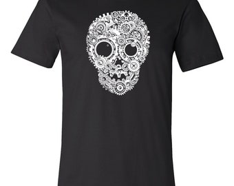 T-SHIRT KOMOA Mechanical skull (Black or White)