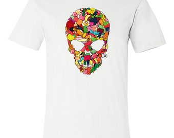 T-SHIRT KOMOA Greedy skull (Black or White)