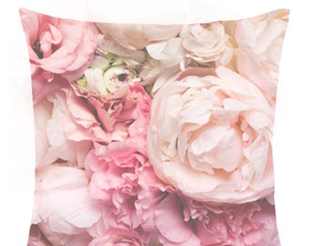 Peonies in Pink - Cushion Cover 40cm x 40cm