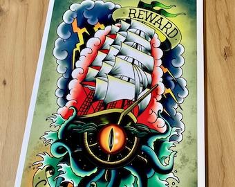 Uk'otoa Fjord - Critical Role (Mighty Nein) - Art Print