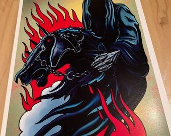 Nazgul (Lord of the Rings) - Tattoo Flash Sheet - Art Print