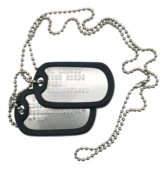 Set of 10 Urban GI Military Dog Tag Silencer