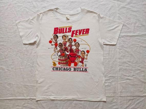 Vintage 80s Chicago Bulls Tshirt Bulls Fever Size