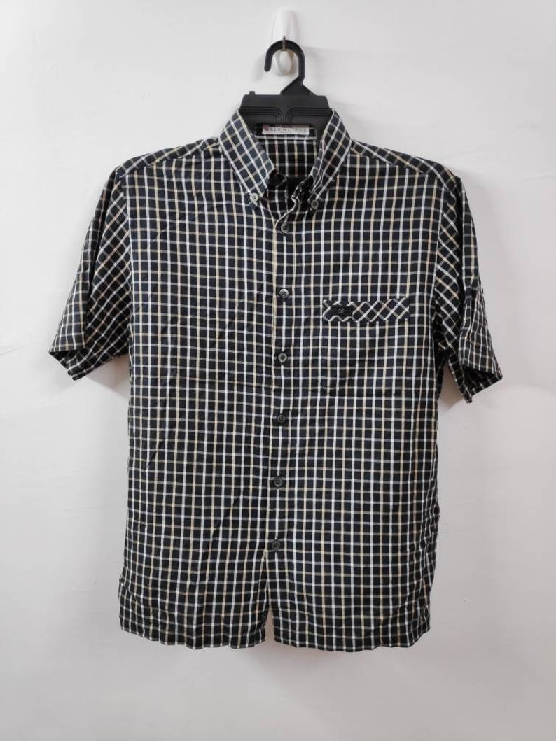 925dd2ac Sale Vintage Balenciaga Button Down Shirt Size Medium | Etsy