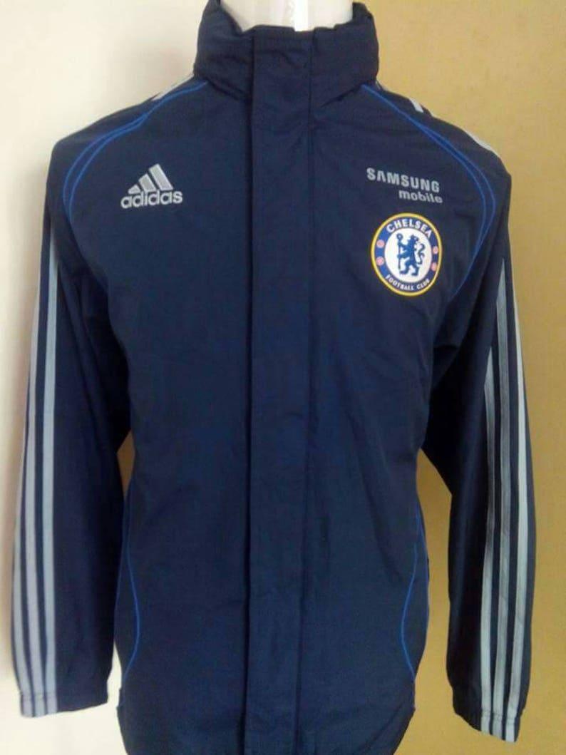 best website 9e02c 08cfd Sale! Vintage Chelsea Football Club Windbreaker Jacket Full Zipper Size  Medium