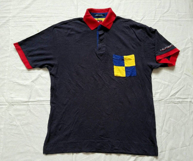 912b4c0e Sale Vintage Tommy Hilfiger Polo Shirt Size Small/Medium | Etsy