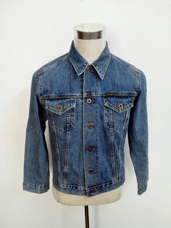 Vente!! Rare!!! vintage Big John Lot 0061 Selvedge Denim Jacket Taille Grand Levis Wrangler Lee