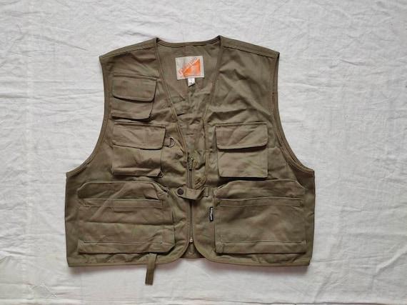 Vintage 90s Fishing Pro Sasaki Vest Size Large