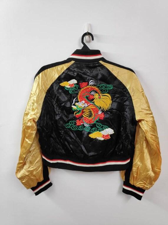Sale! Vintage Sukajan Dragon Embroidery Size Small