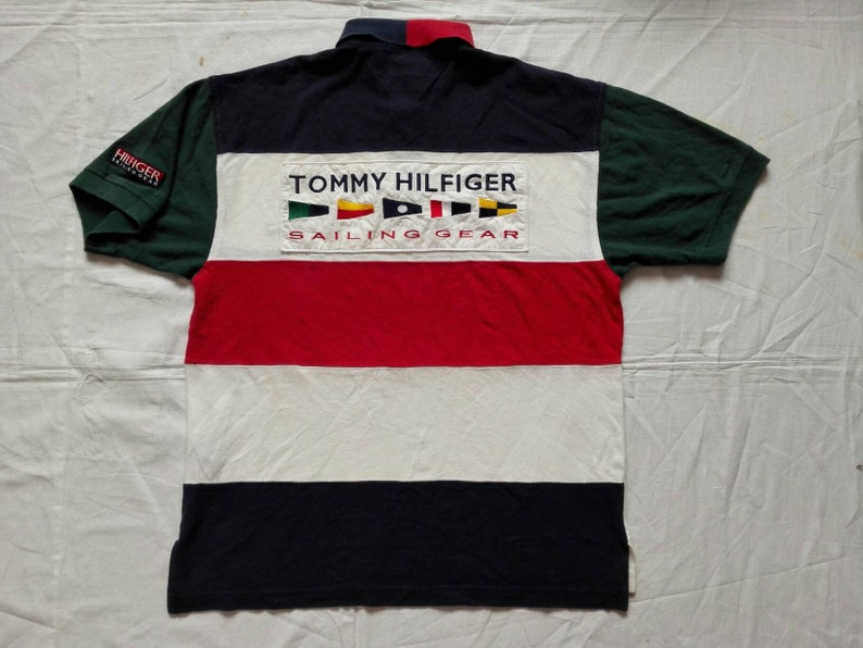 7715d761 Sale Vintage Tommy Hilfiger Sailing Polo Shirt Color BLOCK | Etsy