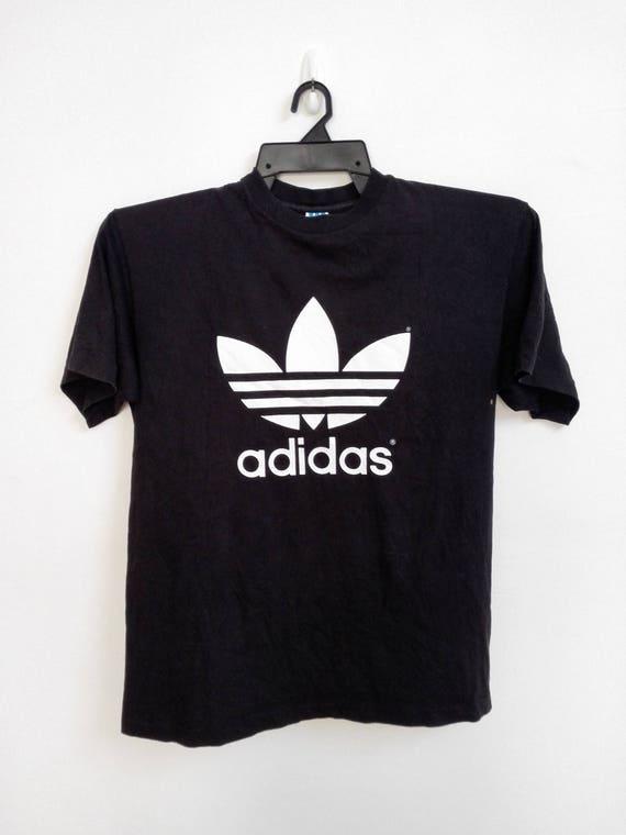 835b0c900441 Sale Vintage Adidas Biglogo Tshirt Size Large   Etsy