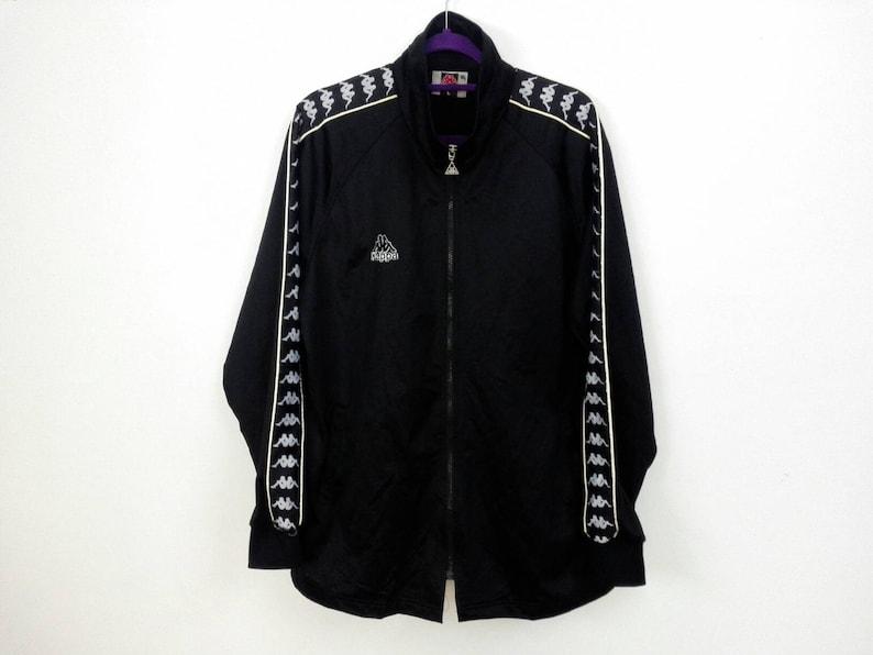 Sale! Vintage Kappa Jacket Jaspo Big Logo Fully Zipper Stripe Logo Hip Hop Sport Size Large