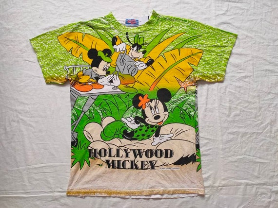 Vintage 90s Mickey Hollywood Tshirt Mickey Mouse M