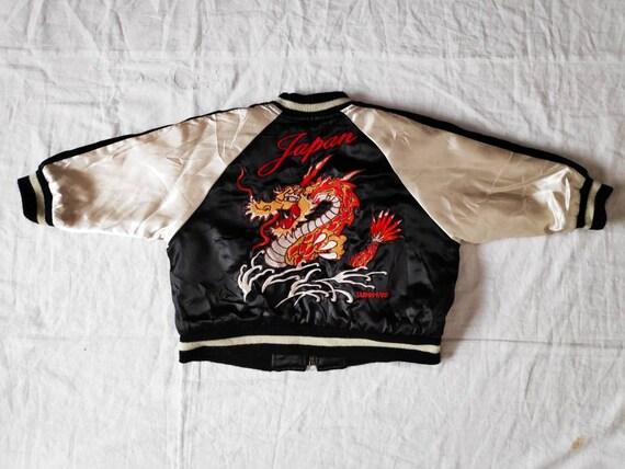 Sale! Vintage Sukajan Japan Dragon Embroidery Size