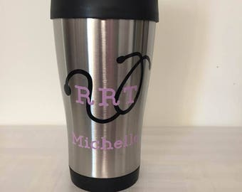 Respiratory Therapy insulated Coffee Mug, RRT Coffee Mug,RRT Coffee Cup,Stainless steal coffee cup, rt coffee cup, crt Coffee Mug,crt gift
