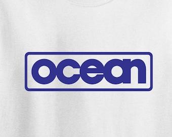 Ocean Software - promotional tee - spectrum, commodore 64, Amiga, Atari, 80's
