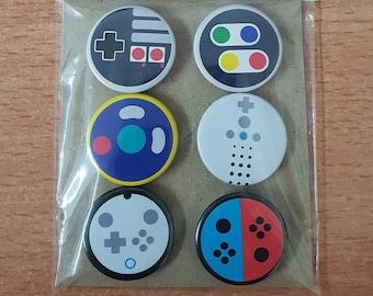 The Nintendo Controller Collection - 25mm button badges