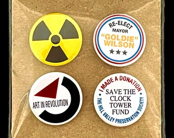 The Back to the Future Collection - 25mm button badges
